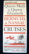 QUEEN MARY & QUEEN ELIZABETH -- 1965 Cruise Folder -- Cunard Line