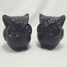 2 Chubby Own Figurines Glossy Black 4in Chubby Bookshelf Decor Coin Banks Pair