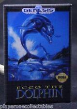 "Ecco the Dolphin Sega Genesis Game Box 2"" X 3"" Fridge / Locker Magnet."