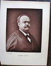 CHARLES LECOQ, GALERIE CONTEMPORAINE, PHOTOGLYPTIE ORIGINALE  (1890) PETIT