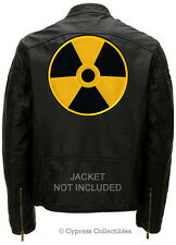 LARGE NUCLEAR RADIATION BIKER PATCH - DANGER WARNING SYMBOL ZOMBIE HUNTER LOGO