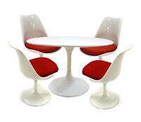 moderntomato tulip 5 pcs dining set - 3 colors to choose