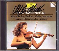 Anne-Sophie MUTTER Signiert BRAHMS MENDELSSOHN Violinkonzerte KARAJAN CD Violin