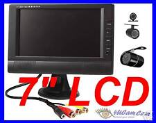 "7"" LCD monitor Wireless Rearview Backup Car RV Trailer IR Night Vision Camera"