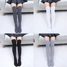 Women Thigh High Solid Color Long Boot Socks Lady Over Knee Cotton Stockings New