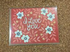 One Canoe Two - I love You w/ Flowers Greeting Card w/Envelope Blank Inside
