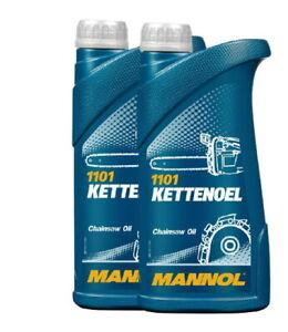 2x1 Liter  Mannol Kettenhaftöl Kettenöl mineralisch  Kettensägeöl Motorsägenöl