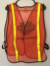 Harley Davidson High Visability Tour Vest Size S/XL Orange Reflective Yellow