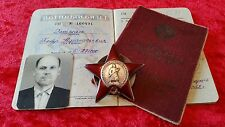 Genuine WW2 Russian Medal Order Of The Red Star NAMED Tank Regiment Commander