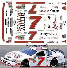 NASCAR DECAL # 7 ARMY WIVES  - LIFETIME 2010 BGN MONTE CARLO - SCOTT WIMMER