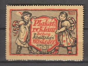 Hungary Poster Stamp Reklamemarke Seal Plakat Reklam Belyeg Miskolcz 1914