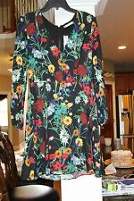 Alice + Olivia Midnight Meadow Floral  Dress  NEW 8 NWT $295  (bin99)
