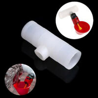 2Pcs Poultry Water Drinking Tube Plastic Automatically Drinker Chicken CRIT