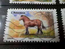 FRANCE 2013, timbre  AUTOADHESIF 817 CHEVAL ARDENNAIS HORSE oblitéré, VF STAMP