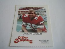 VINTAGE 1981 RED ROOSTER CFL FOOTBALL DAVE KIRZINGER CARD**CALGARY STAMPEDERS**