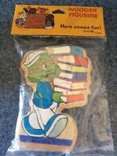 Vintage 1984 The Get Along Gang Wooden Figurine Braker Turtle American Greetings