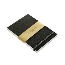 CHRISTIAN LACROIX Embossed Note Pad Paseo ~ Black ~ 128 Pages  Elastic Band