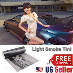 "12""x60"" Light Smoke Glass/Plastic Headlight Taillamp Lens Vinyl Protection Film"