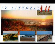 LE LITTORAL (80) CHAR à VOILE & PLAGE animée en 1997