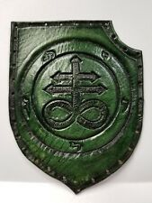 LEVIATHAN CROSS GREEN ANTIQUE GENUINE LEATHER  PATCH