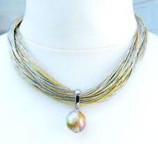 Perlen-Zucht-Halsketten mit echten aus Edelstahl