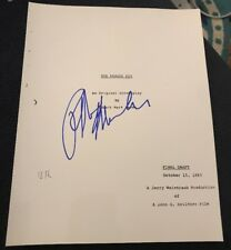 RALPH MACCHIO SIGNED THE KARATE KID FULL MOVIE SCRIPT W/COA+PROOF RARE WOW