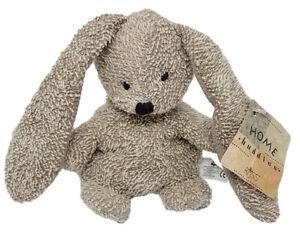 RUSS BERRIE Home Buddies 1995 NIBBLES Tan Bunny Rabbit BEANBAG Plush Terry cloth