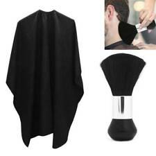 UK Salon Hair Cutting Nylon Cape Barber Hairdressing Gown Neck Duster Brush Set