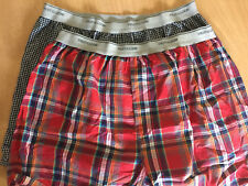 (2) L 36-38 Fruit of the Loom - Men's Cotton/Polyester Plaid Boxer Shorts-New