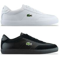 Lacoste Trainers - Lacoste Court-Master 120 Leather Trainers - Black, White