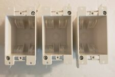 Electrical gang box, single gang box, lot of (3). Old work for remodel. USA made