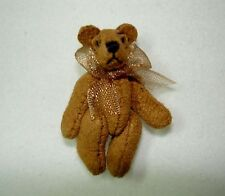 Dollhouse Tiny Aztec Suede Micro Bear World of Miniature Bears for Doll House