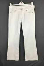 SEVEN 7 FOR ALL MANKIND WHITE JEANS WHITE DENIM JEANS SIZE 28