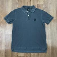 Vintage TIMBERLAND Mens Polo Shirt   Short Sleeve Retro   Large L Grey