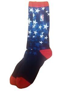 Nba All Star Logo Socks Crew USA Stars Blue men's Veteran's Day Olympic Team