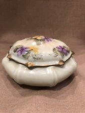 Antique Vintage Limoges Covered Dish Jar Serving Signed Resbi