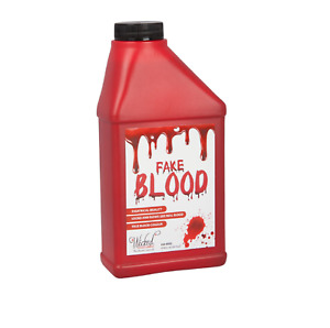 Large Bottle Fake Blood Halloween Horror Fancy Dress Theatrical Vampire Zombie