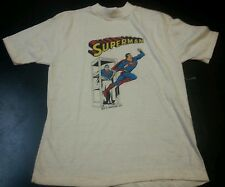 Vintage Dc Comics Superman 1977 childrens Tshirt Large 14-16 Made in Usa