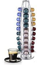Vinsani Rotating Chrome Coffee Capsule Pod Stand for Nespresso 40 Pods