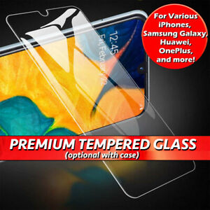 Gorilla Tempered Glass Screen Protector For Various Mobile Phones Gel Case Cover