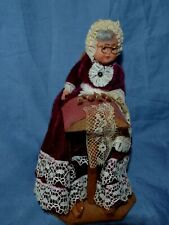 Vintage Lacemaking Doll Belgian Lace Maker Folk Art Character Celluloid Head