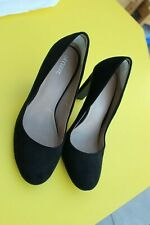 Ladies Black Shoes size 5.5 high heel by Next