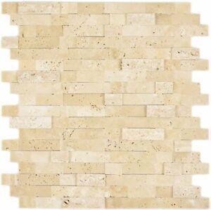 selbstklebendes Natursteinmosaik beige Wandverkleidung 200-M42_f 10 Mosaikmatten