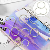 Metal loose leaf book binder hoop ring multifunctional keychain circle DIY BH