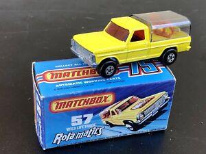 Jouet Ancien Matchbox Superfast Rola-Matics Wild Life Truck boîte d'origine 57