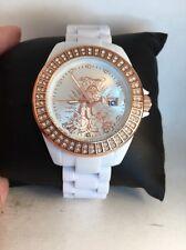 Ed Hardy Women's Jolie JO-PT White Stainless-Steel Quartz Watch White Dial-H60