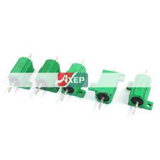 A● 5 Pcs 450Ohm 25Watt Aluminium Clad Wirewound Heatsink Resistors Green