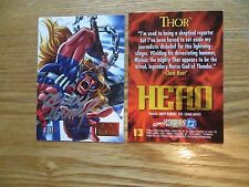 1995 FLEER MARVEL VS DC THOR CARD SIGNED ANDY KUBERT, WITH POA