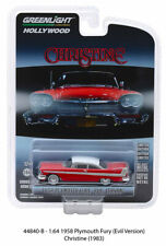 1958 Evil Christine Plymouth Fury HOLLYWOOD SERIES 24 GREENLIGHT DIECAST 1/64