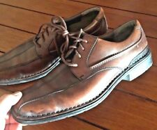 Clarks Mens Mahogany Brown Leather Lace Up Dress Oxford Shoes 9.5